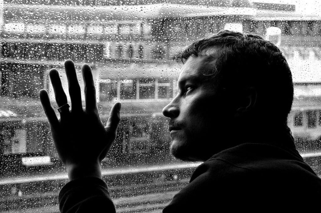 depression, loneliness, man