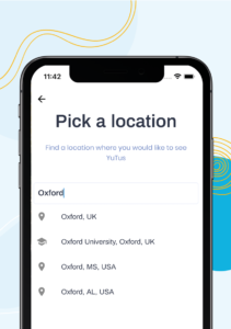 Choose Your Location on the App